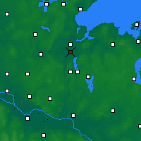 Nearby Forecast Locations - Baía de Lübeck - Mapa