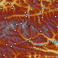 Nearby Forecast Locations - Heiligenblut - Mapa