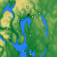 Nearby Forecast Locations - Oslo - Mapa