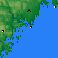 Nearby Forecast Locations - Örnsköldsvik - Mapa