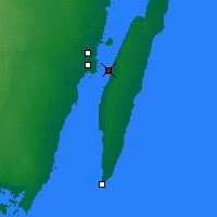 Nearby Forecast Locations - Öland Bridge - Mapa