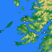 Nearby Forecast Locations - Ardnamurchan - Mapa