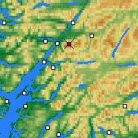 Nearby Forecast Locations - Ben Nevis - Mapa