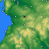 Nearby Forecast Locations - Strathaven - Mapa