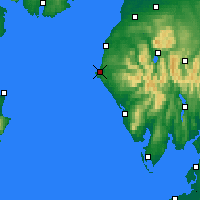 Nearby Forecast Locations - Whitehaven - Mapa