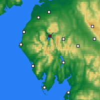 Nearby Forecast Locations - Keswick - Mapa