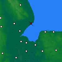 Nearby Forecast Locations - Skegness - Mapa