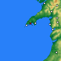 Nearby Forecast Locations - Península de Llŷn - Mapa
