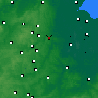 Nearby Forecast Locations - Peterborough - Mapa