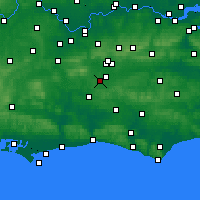 Nearby Forecast Locations - Charlwood - Mapa
