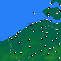 Nearby Forecast Locations - Blankenberge - Mapa