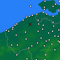 Nearby Forecast Locations - Bruges - Mapa