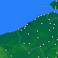 Nearby Forecast Locations - Oostende - Mapa