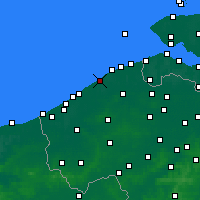 Nearby Forecast Locations - De Haan - Mapa