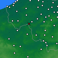 Nearby Forecast Locations - Wevelgem - Mapa