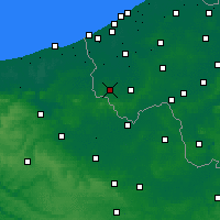 Nearby Forecast Locations - Poperinge - Mapa