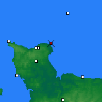 Nearby Forecast Locations - Barfleur - Mapa
