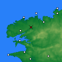 Nearby Forecast Locations - Landivisiau - Mapa
