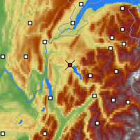 Nearby Forecast Locations - Annecy - Mapa