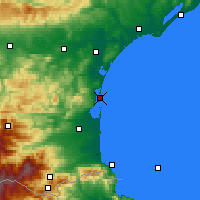 Nearby Forecast Locations - Leucate - Mapa