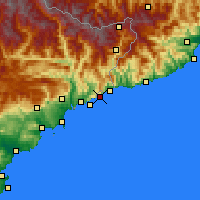 Nearby Forecast Locations - Mónaco - Mapa