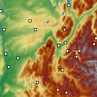 Nearby Forecast Locations - Maciço do Vercors - Mapa