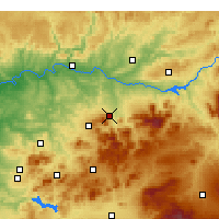 Nearby Forecast Locations - Xaém - Mapa