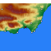 Nearby Forecast Locations - Almeria - Mapa