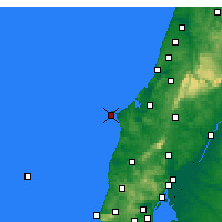 Nearby Forecast Locations - Cabo Carvoeiro - Mapa