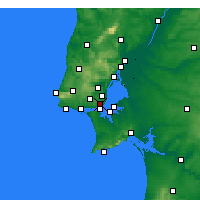 Nearby Forecast Locations - Lisboa/Geof - Mapa