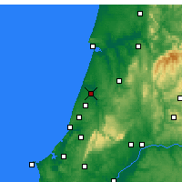 Nearby Forecast Locations - Leiria - Mapa