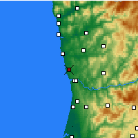 Nearby Forecast Locations - Porto - Mapa