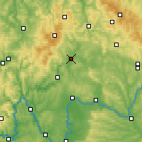 Nearby Forecast Locations - Bad Neustadt - Mapa