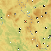 Nearby Forecast Locations - Tirschenreuth - Mapa