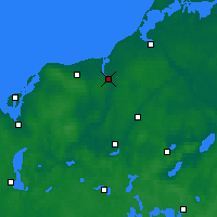 Nearby Forecast Locations - Rostock - Mapa