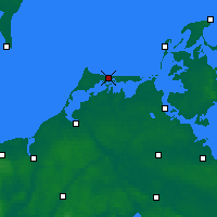 Nearby Forecast Locations - Fischland-Darß-Zingst - Mapa