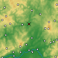 Nearby Forecast Locations - Gießen - Mapa