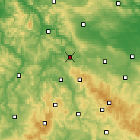 Nearby Forecast Locations - Eisenach - Mapa
