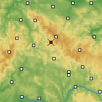 Nearby Forecast Locations - Suhl - Mapa