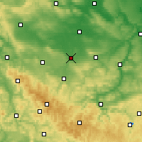 Nearby Forecast Locations - Erfurt - Mapa