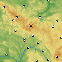 Nearby Forecast Locations - Thuringian Forest - Mapa