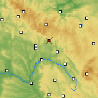 Nearby Forecast Locations - Sonneberg - Mapa