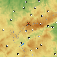 Nearby Forecast Locations - Erzgebirge/W - Mapa
