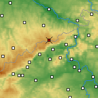 Nearby Forecast Locations - Altenberg - Mapa