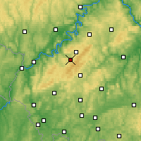 Nearby Forecast Locations - Hunsrück - Mapa