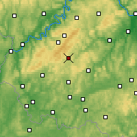 Nearby Forecast Locations - Idar-Oberstein - Mapa