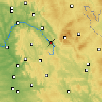 Nearby Forecast Locations - Bayreuth - Mapa