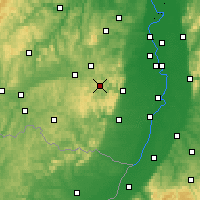 Nearby Forecast Locations - Palatinate Forest - Mapa