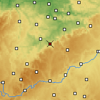 Nearby Forecast Locations - Reutlingen - Mapa