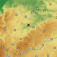Nearby Forecast Locations - Waibstadt - Mapa